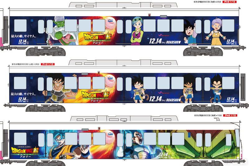 Dragon Ball Super Broly Train (Déco 2)