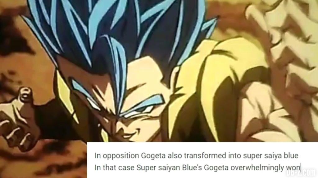 Gogeta Super Saiyan Blue vs Broly