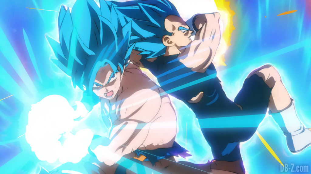 Goku et Vegeta Super Saiyan Blue vs Broly