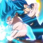 Goku et Vegeta Super Saiyan Blue vs Broly