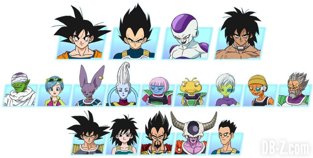 Lista de personajes de la película Dragon Ball Super BROLY.