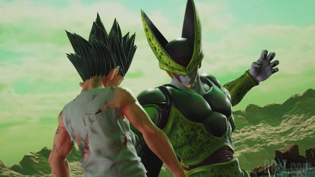 Perfect Cell explose Gon (Jump Force)