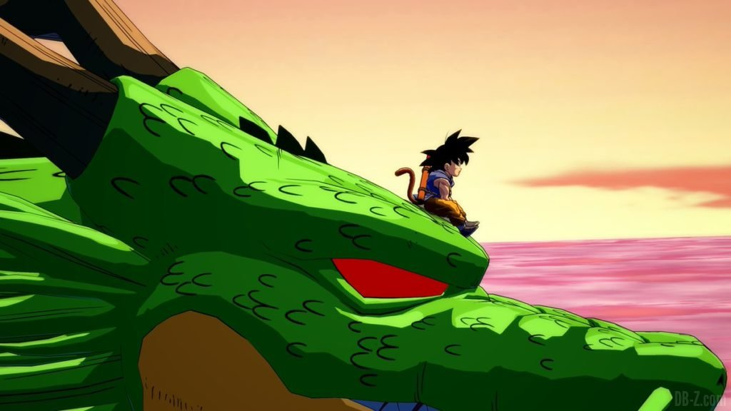 Goku sur Shenron dans Dragon Ball FighterZ