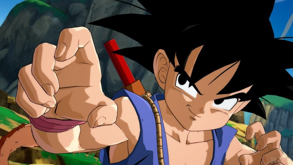 Goku GT Enfant Dragon Ball FighterZ en garde