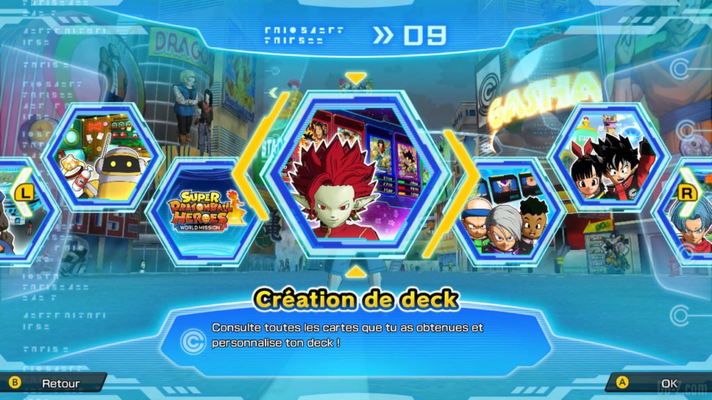 Création de deck (SDBH World Mission)