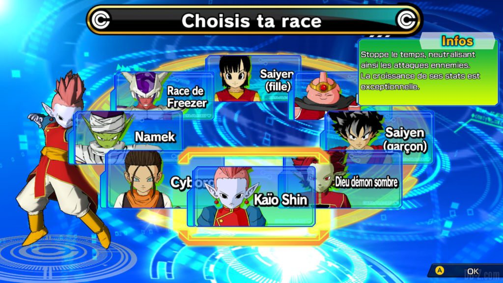SDBH World Mission - Choix des Avatars