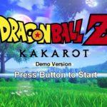 Dragon Ball Z Kakarot Ecran Accueil