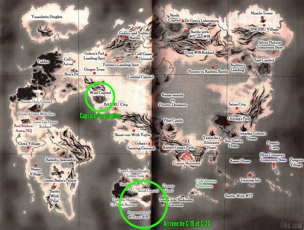 Carte du monde de Dragon Ball