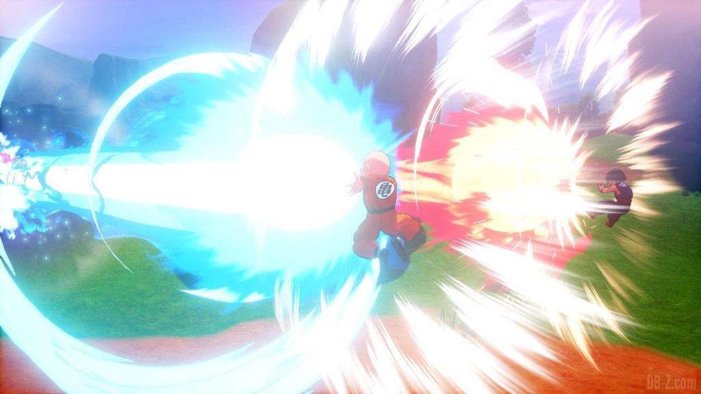 Dragon Ball Z Kakarot Krilin et Gohan Kamehameha