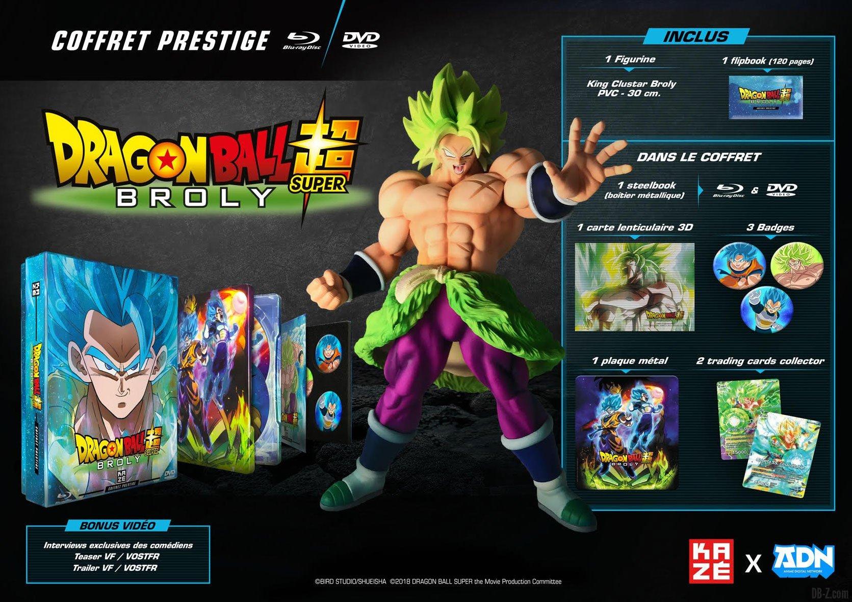 Dragon Ball Super Broly Contenu Du Coffret Prestige