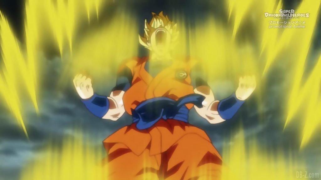 Super Dragon Ball Heroes Episode 13 008 Goku Super Saiyan