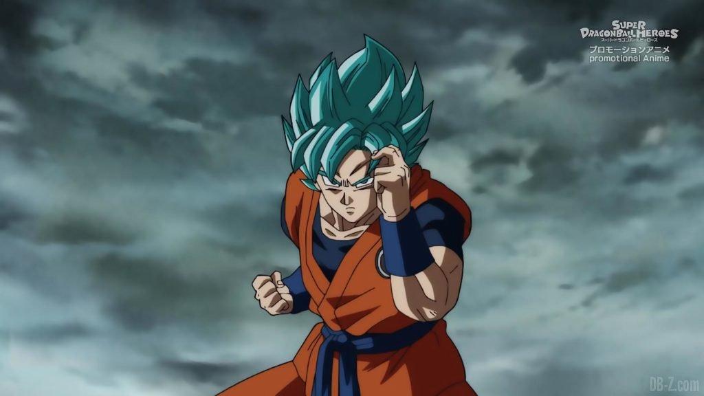 Super Dragon Ball Heroes Episode 13 009 Goku SSGSS Super Saiyan Blue