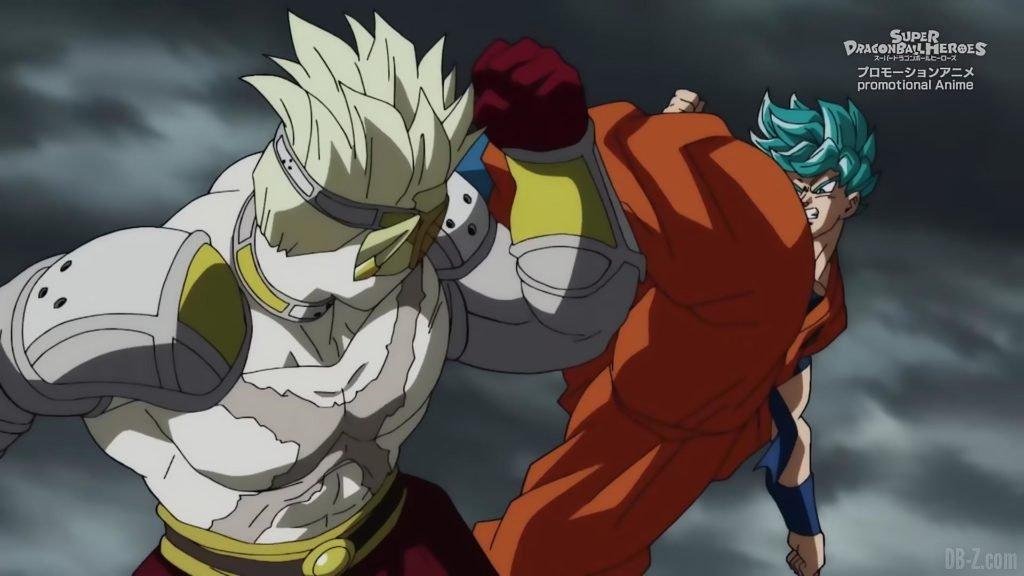 Super Dragon Ball Heroes Episode 13 010 Hearts Goku SSGSS Super Saiyan Blue