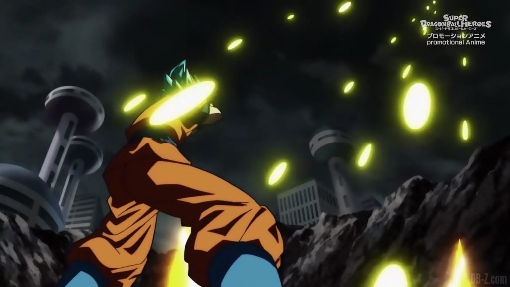 Super Dragon Ball Heroes Episode 13 011 Goku SSGSS Super Saiyan Blue