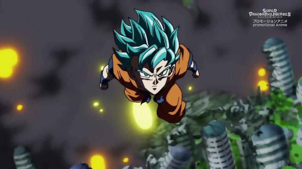 Super Dragon Ball Heroes Episode 13 012 Goku SSGSS Super Saiyan Blue