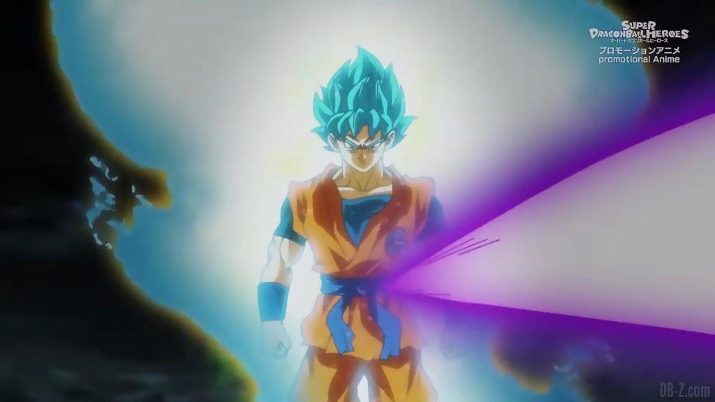 Super Dragon Ball Heroes Episode 13 020 Goku SSGSS Super Saiyan Blue