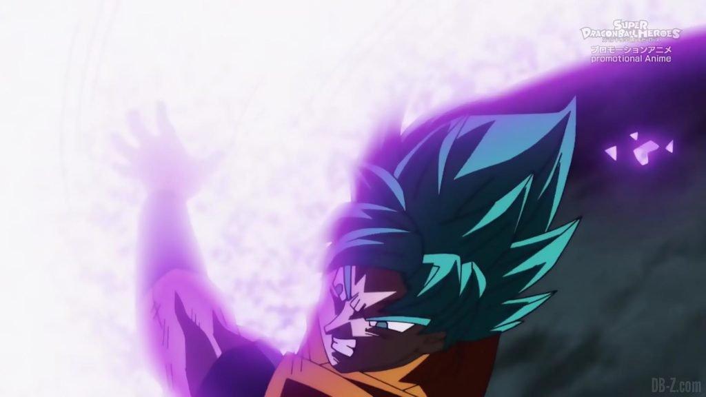 Super Dragon Ball Heroes Episode 13 021 Goku SSGSS Super Saiyan Blue