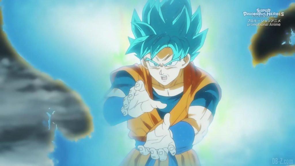 Super Dragon Ball Heroes Episode 13 025 Goku SSGSS Super Saiyan Blue Kamehameha
