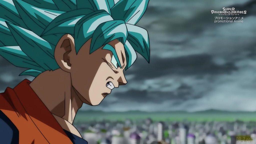 Super Dragon Ball Heroes Episode 13 032 Goku SSGSS Super Saiyan Blue