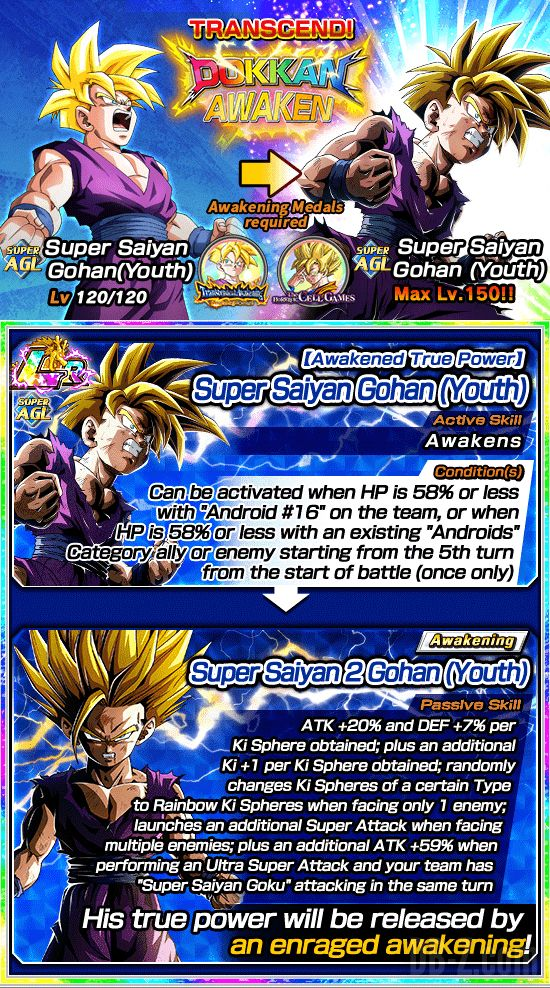 Dokkan Transcendent Awakening Surpassing the Strongest 2