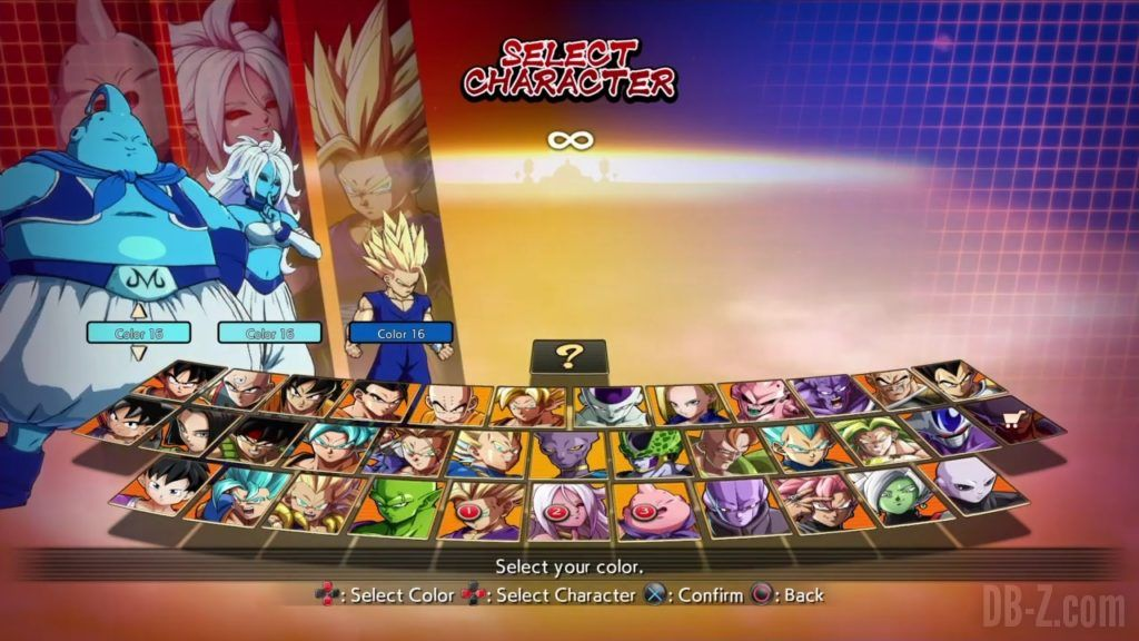 Dragon Ball FighterZ Ete Summer Personnages Vignette Couleur 26