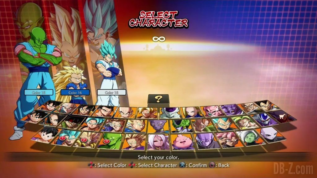 Dragon Ball FighterZ Ete Summer Personnages Vignette Couleur 27