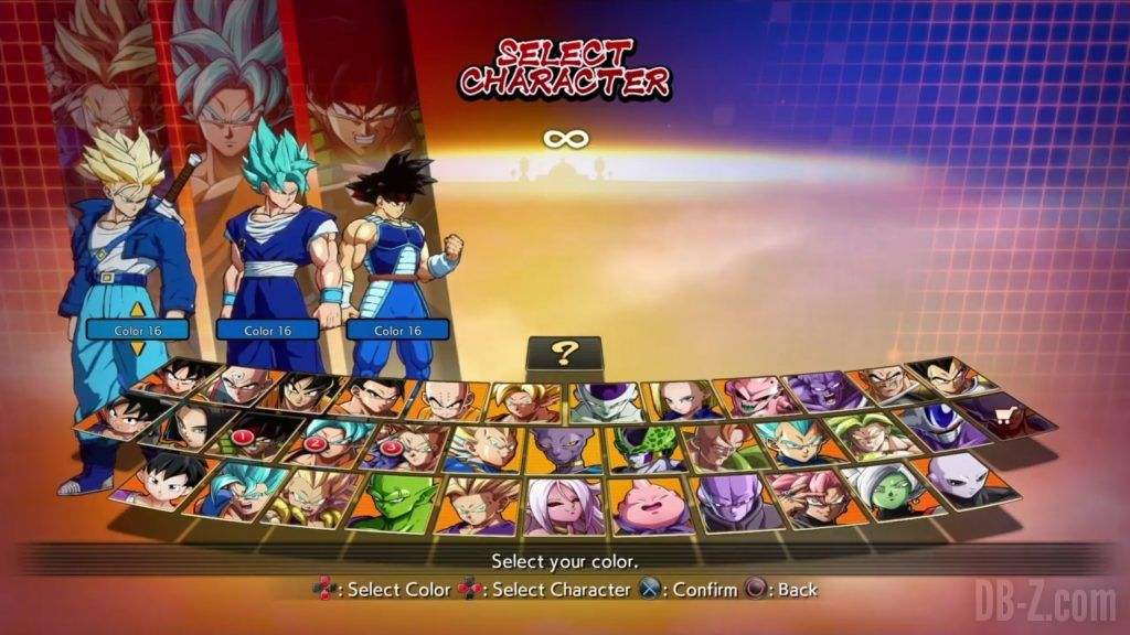 Dragon Ball FighterZ Ete Summer Personnages Vignette Couleur 28