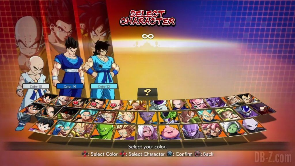 Dragon Ball FighterZ Ete Summer Personnages Vignette Couleur 29