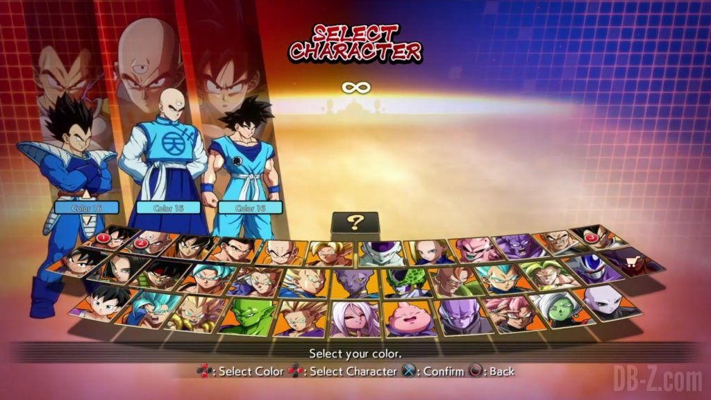 Dragon Ball FighterZ Ete Summer Personnages Vignette Couleur 30