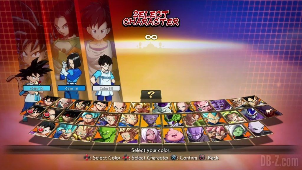 Dragon Ball FighterZ Ete Summer Personnages Vignette Couleur 31