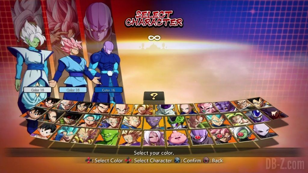 Dragon Ball FighterZ Ete Summer Personnages Vignette Couleur 32
