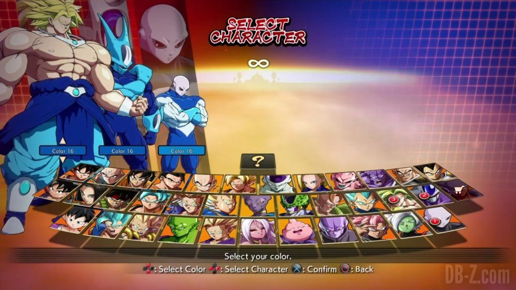 Dragon Ball FighterZ Ete Summer Personnages Vignette Couleur 33