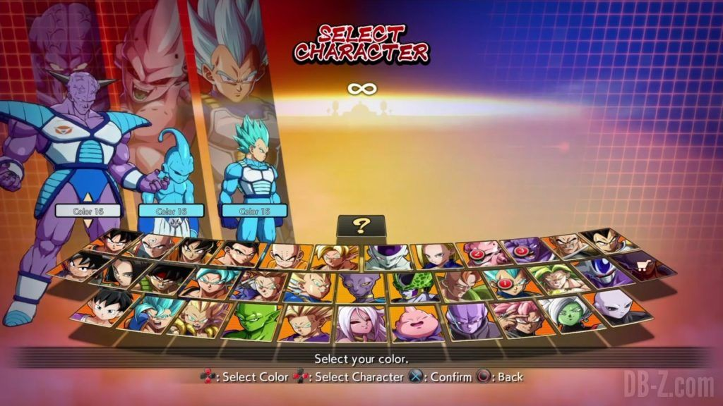 Dragon Ball FighterZ Ete Summer Personnages Vignette Couleur 34