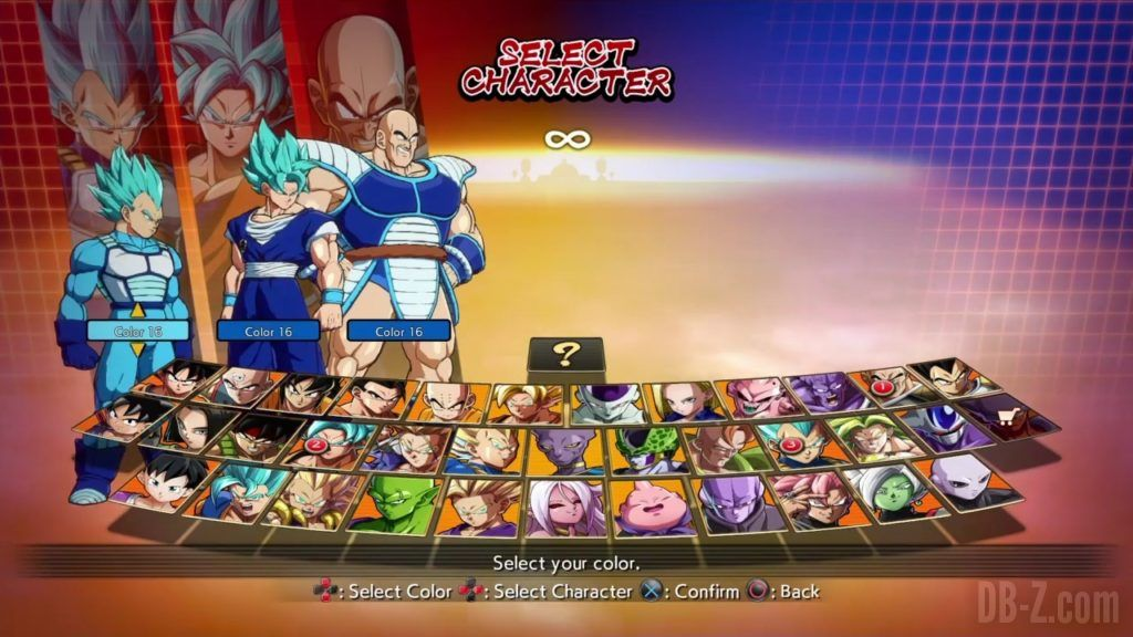 Dragon Ball FighterZ Ete Summer Personnages Vignette Couleur 35