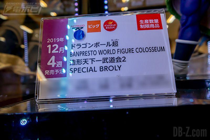 Dragon Ball Super Banpresto World Figure Colosseum SPECIAL BROLY Décembre 2019 Etiquette