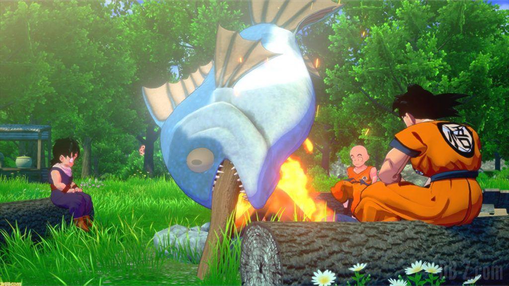 Dragon Ball Z Kakarot Goku cuisine