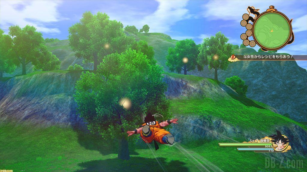 Dragon Ball Z Kakarot Goku explore
