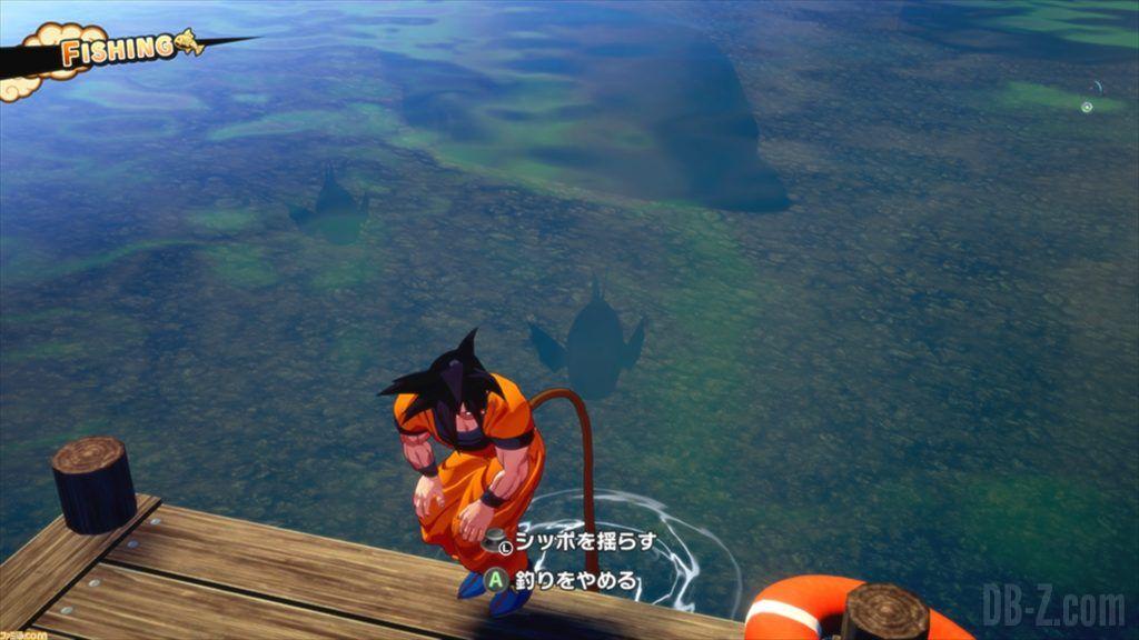 Dragon Ball Z Kakarot Goku peche