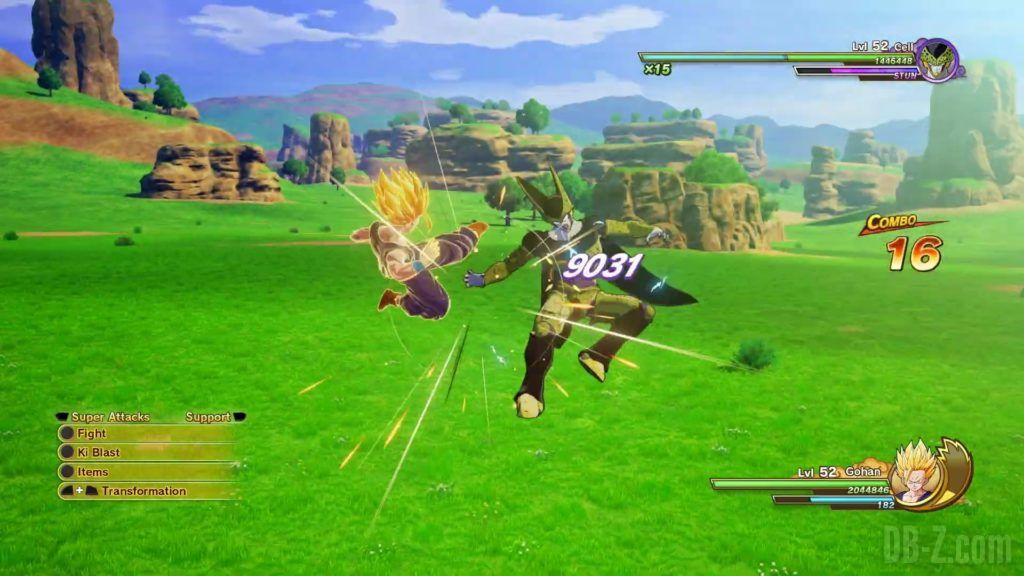 Dragon Ball Z Kakarot Trailer Gohan Cell 000038