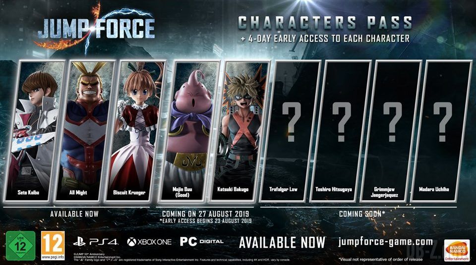 Jump Force DLC saison 1