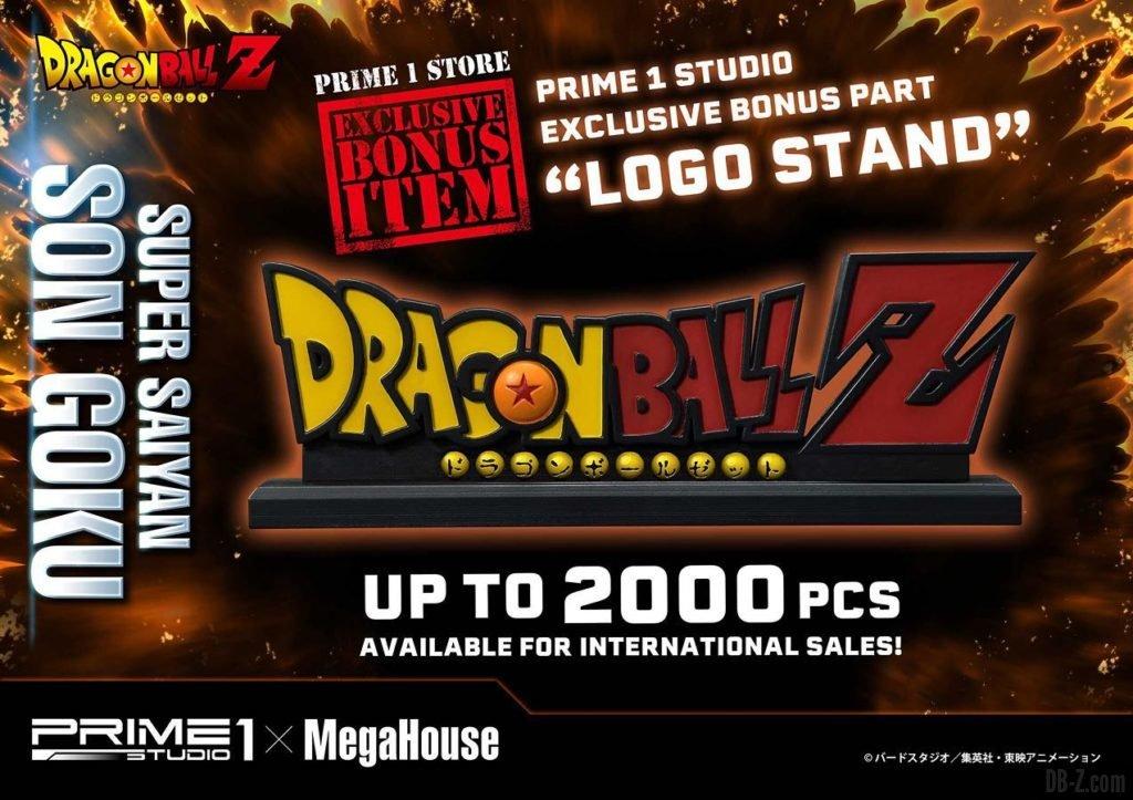 Mega Premium Masterline Dragon Ball Z Son Goku Super Saiyan Logo Stand Bonus 2