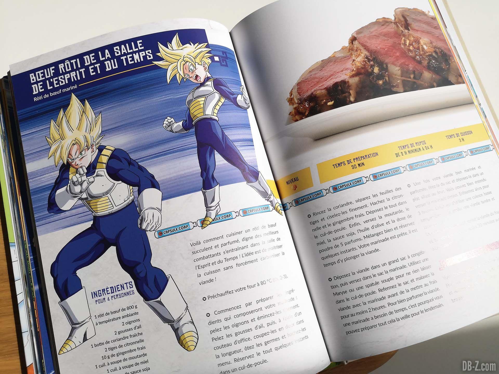 Apercu livre Les recettes légendaires de Dragon Ball Glénat 09