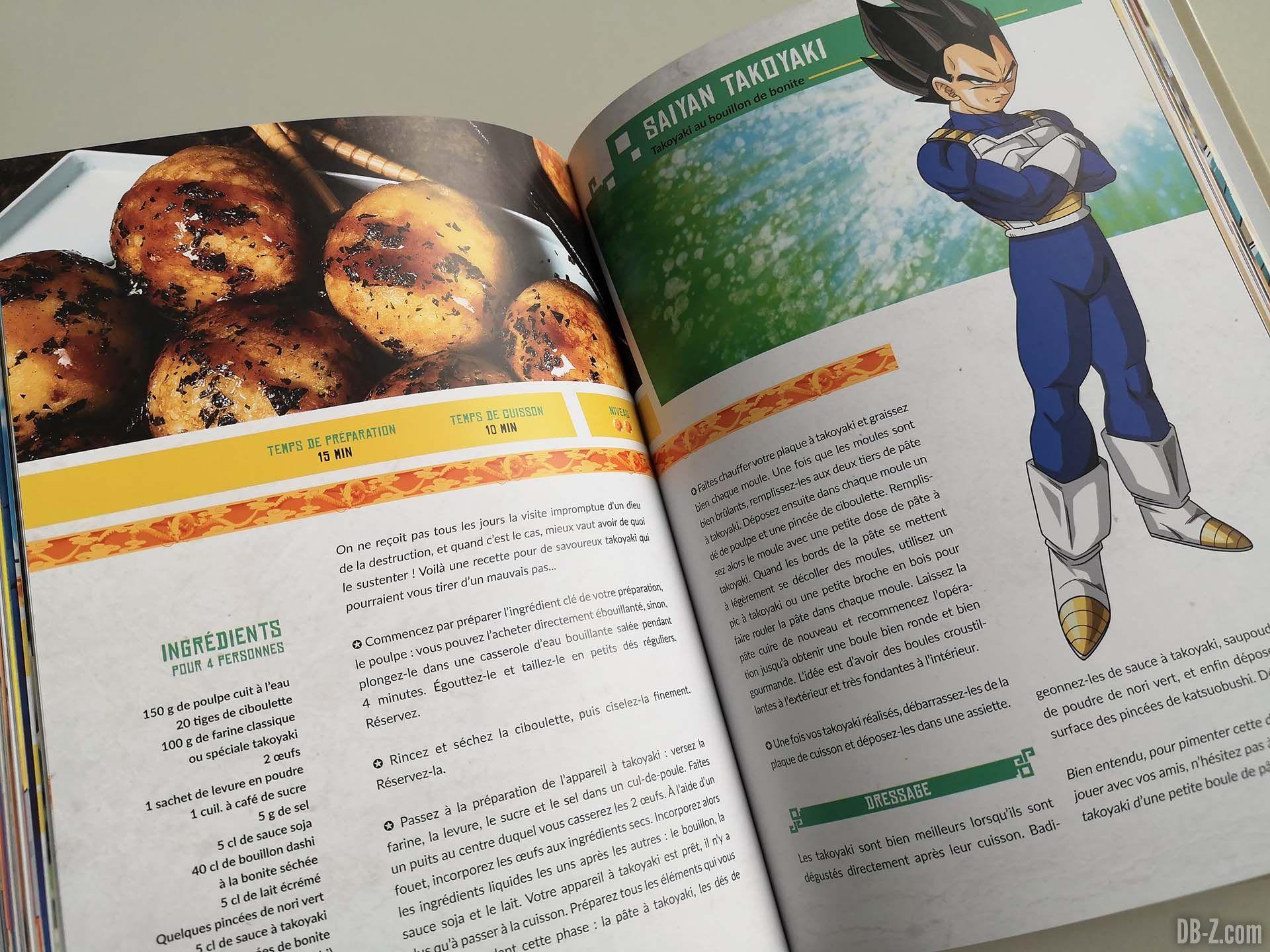Apercu livre Les recettes légendaires de Dragon Ball Glénat 14