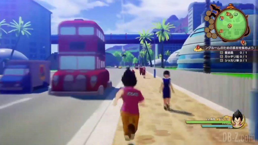 Vegeta Badman Chemise rose Dragon Ball Z Kakarot Gameplay 02