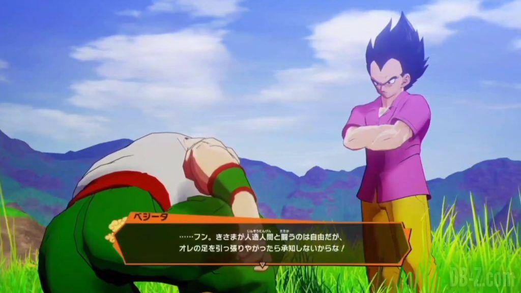 Vegeta Badman Chemise rose Dragon Ball Z Kakarot Gameplay 07