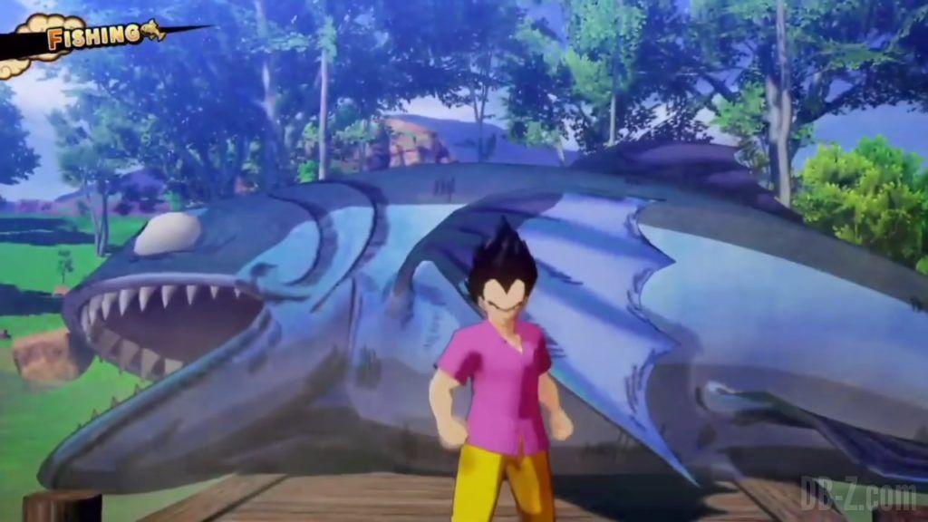 Vegeta Badman Chemise rose Dragon Ball Z Kakarot Gameplay 09