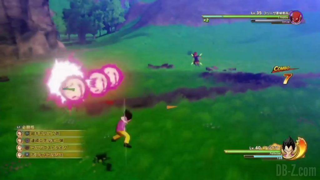 Vegeta Badman Chemise rose Dragon Ball Z Kakarot Gameplay 12