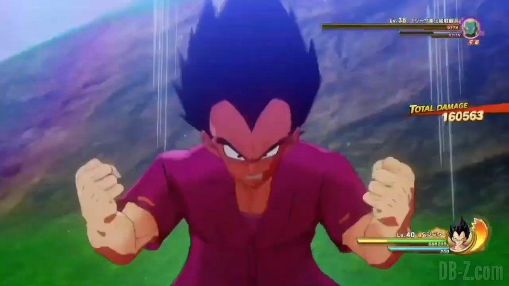 Vegeta Badman Chemise rose Dragon Ball Z Kakarot Gameplay 16