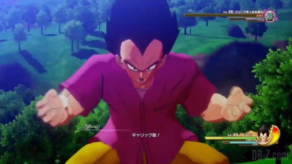 Vegeta Badman Chemise rose Dragon Ball Z Kakarot Gameplay 20