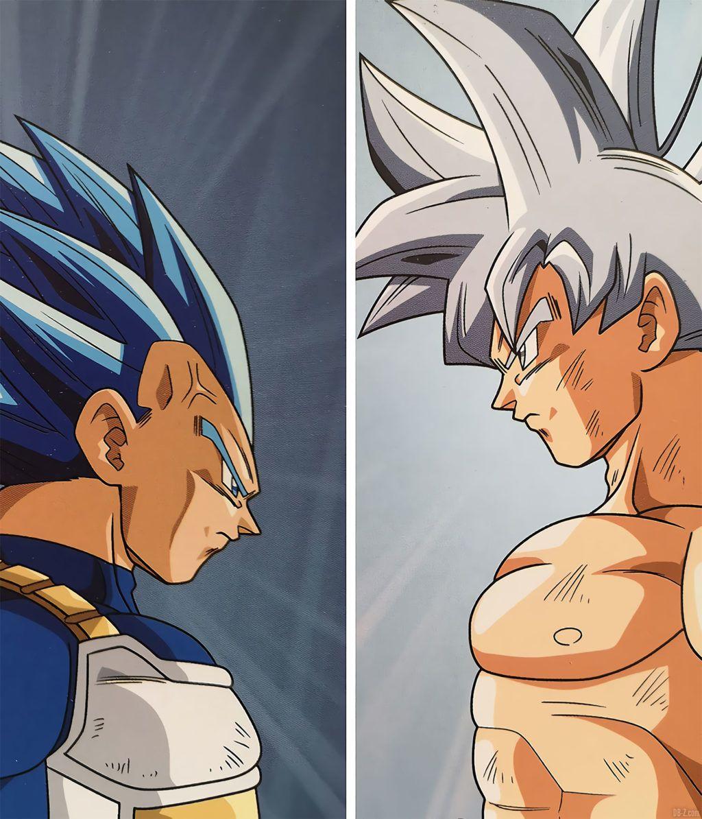 Calendrier Dragon Ball Super 2020 Goku Ultra Instinct vs Vegeta SSB avancé
